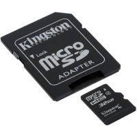 Карта памяти Kingston Micro SDHC 32Gb class 4 +SD adapter