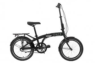 """Велосипед 20"""" Dorozhnik ONYX планет. складной 2020 (черный 12,5"""")"""