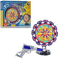 Музыкальный тир,крутится,свет,звук,лазерный пистолет,лазерный тир Limo toy 2168