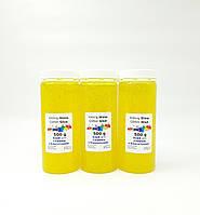 Желтый клей для слайма 3шт по 500мл, фото 1