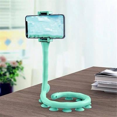 Гибкий держатель для телефона с присосками  st-1 с углом наклона 360 градусов Бирюзовый