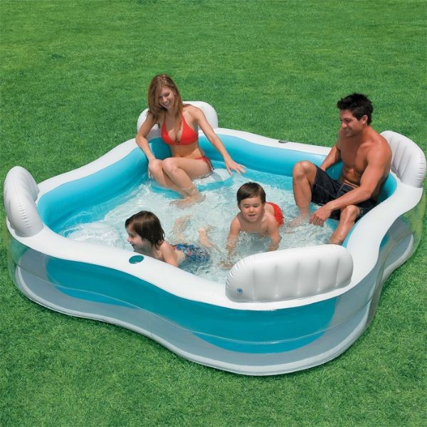 """Надувной бассейн """"Семейный лаунж"""". Бассейн с сиденьями Intex 56475, фото 1"""