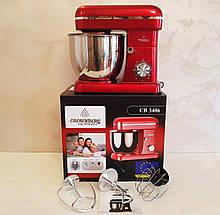 Кухонный комбайн миксер с металлической чашей Crownberg CB-3406 планетарный 2200 Вт