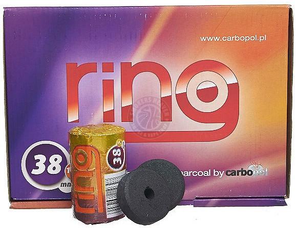 Уголь Carbopol Ring Charcoal 38 mm, туба 5 шт углей.