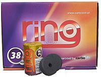 Уголь Carbopol Ring Charcoal 38 mm, туба 5 шт углей., фото 1