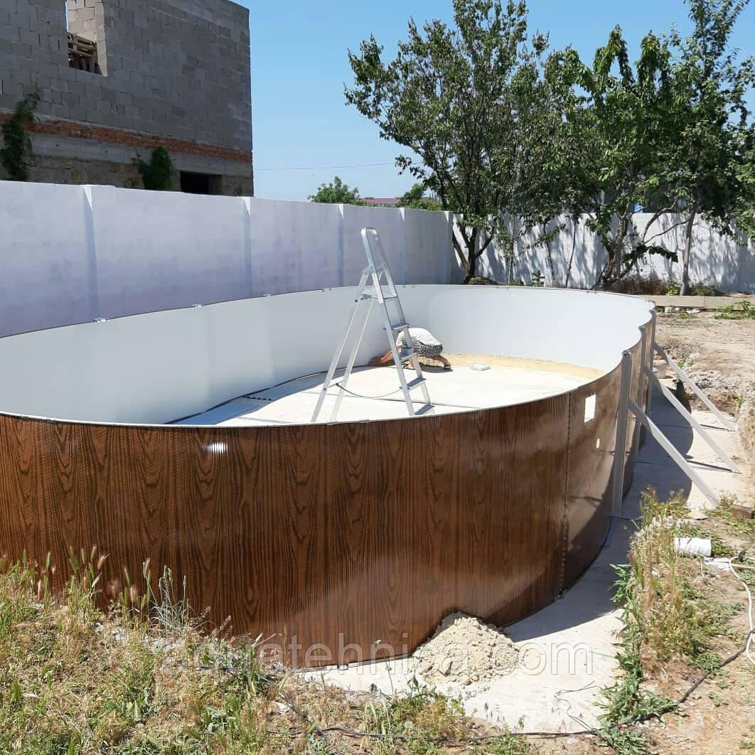 Конструкція каркасного басейну Azuro VAR 403 DL 5,5 x 1,2 м (без плівки)