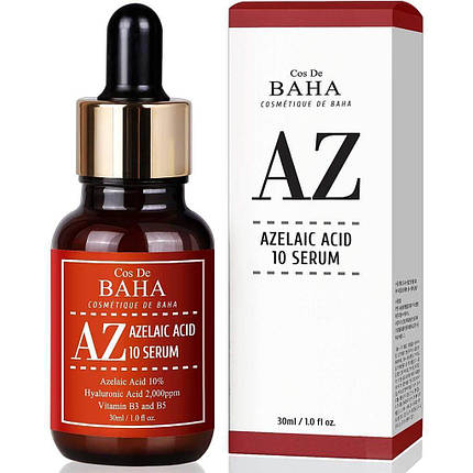 Протизапальна сироватка з азелаїнової кислоти Cos De BAHA AZ Azelaic Acid 10 Serum, 30 мл, фото 2