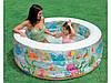 Детский надувной бассейн – «Аквариум». Бассейн прозрачный с рыбками
