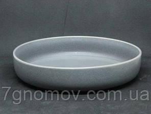 Салатник керамический серый Гармония 23 см, фото 2