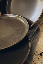 Салатник керамический серый Гармония 23 см, фото 3