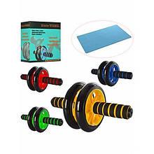 Гимнастическое спортивное фитнес колесо, тренажор для мышц