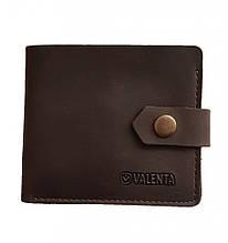 Чоловічий шкіряний гаманець Valenta з відділенням для монет Коричневий (ХР19782t)