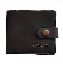 Чоловічий шкіряний гаманець Valenta з відділенням для монет Чорний (ХР197112t)