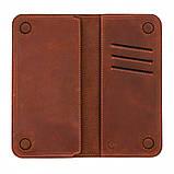 Шкіряний чохол-гаманець Valenta з відділенням для телефону до 6.5 Коньячний (1283182xlt), фото 3