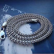 Срібний ланцюжок, 550мм, 26 грамів, плетіння Пітон, чорніння, фото 2