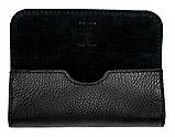 Кожаный футляр для очков Valenta флотар Черный (о8f2t), фото 3