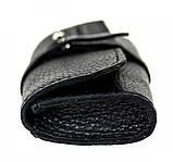 Кожаный футляр для очков Valenta флотар Черный (о8f2t), фото 5