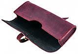 Шкіряний футляр для окулярів Valenta Бордовий (о81114t), фото 3