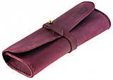 Шкіряний футляр для окулярів Valenta Бордовий (о81114t), фото 4