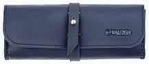Шкіряний футляр для окулярів Valenta Темно-синій (о81113t)