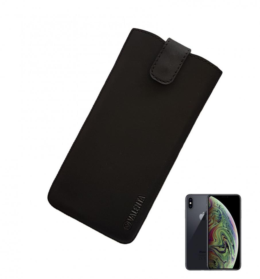 Кожаный чехол-карман Valenta для iPhone X/XS Черный (C100911sg5ipxst)
