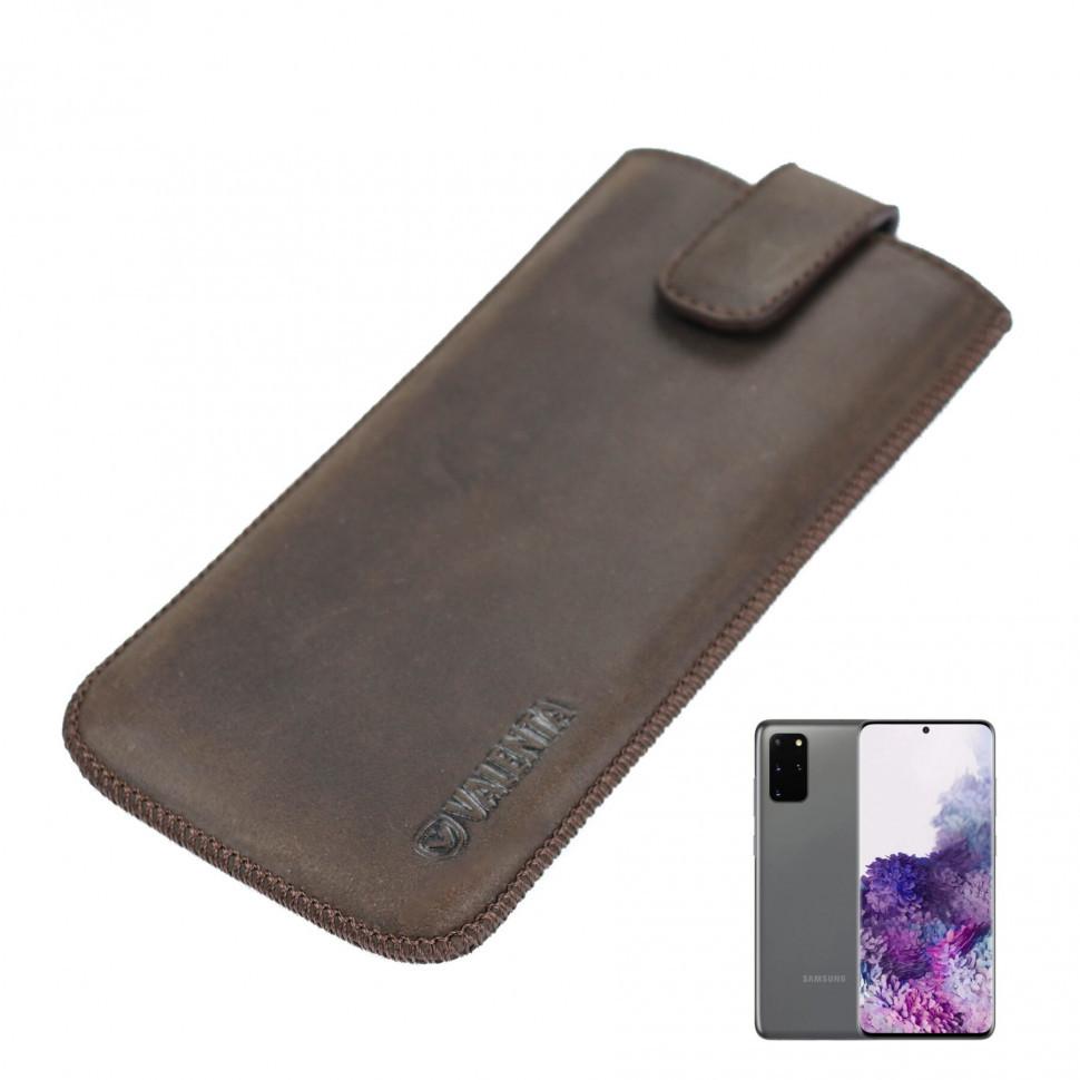 Шкіряний чохол-кишеня Valenta для Samsung Galaxy S20 Plus Коричневий (C10098sn8s20pt)