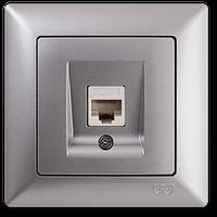 Компьютерная розетка Gunsan Visage Ambiance серебро (01 28 15 00 100 130)