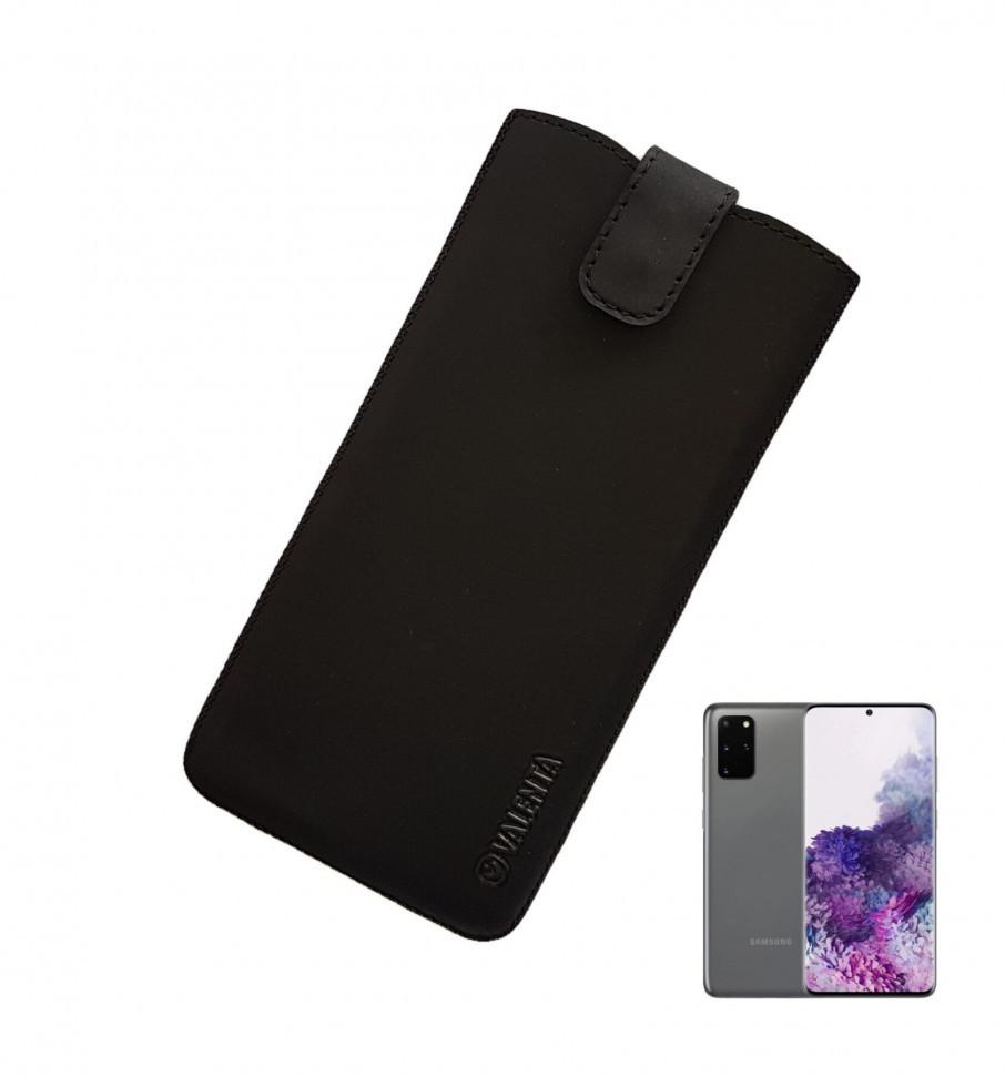 Кожаный чехол-карман Valenta для Samsung Galaxy S20 Plus Черный (C100911sn8s20pt)