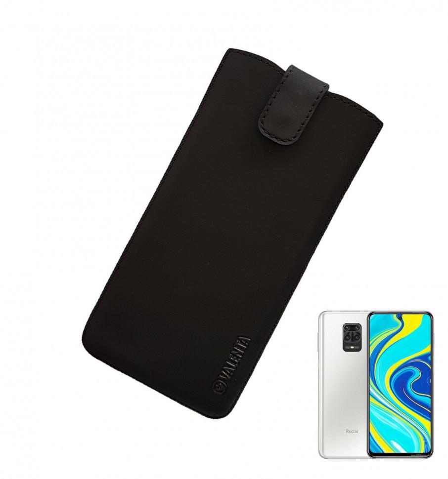 Кожаный чехол-карман Valenta для Xiaomi Redmi Note 9S Черный (C10092a20sxrn9St)