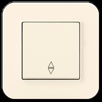 Выключатель проходной одноклавишный Gunsan Radius кремовый (01 37 12 00 100 107)