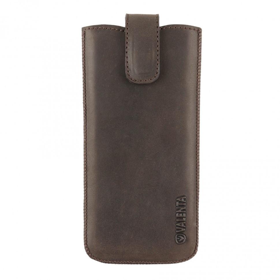 Шкіряний чохол-кишеня Valenta для iPhone 6/7/8 Plus Коричневий (C100982IP8pt)