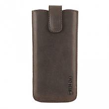 Кожаный чехол-карман Valenta для iPhone 6/7/8 Plus Коричневый (C100982IP8pt)
