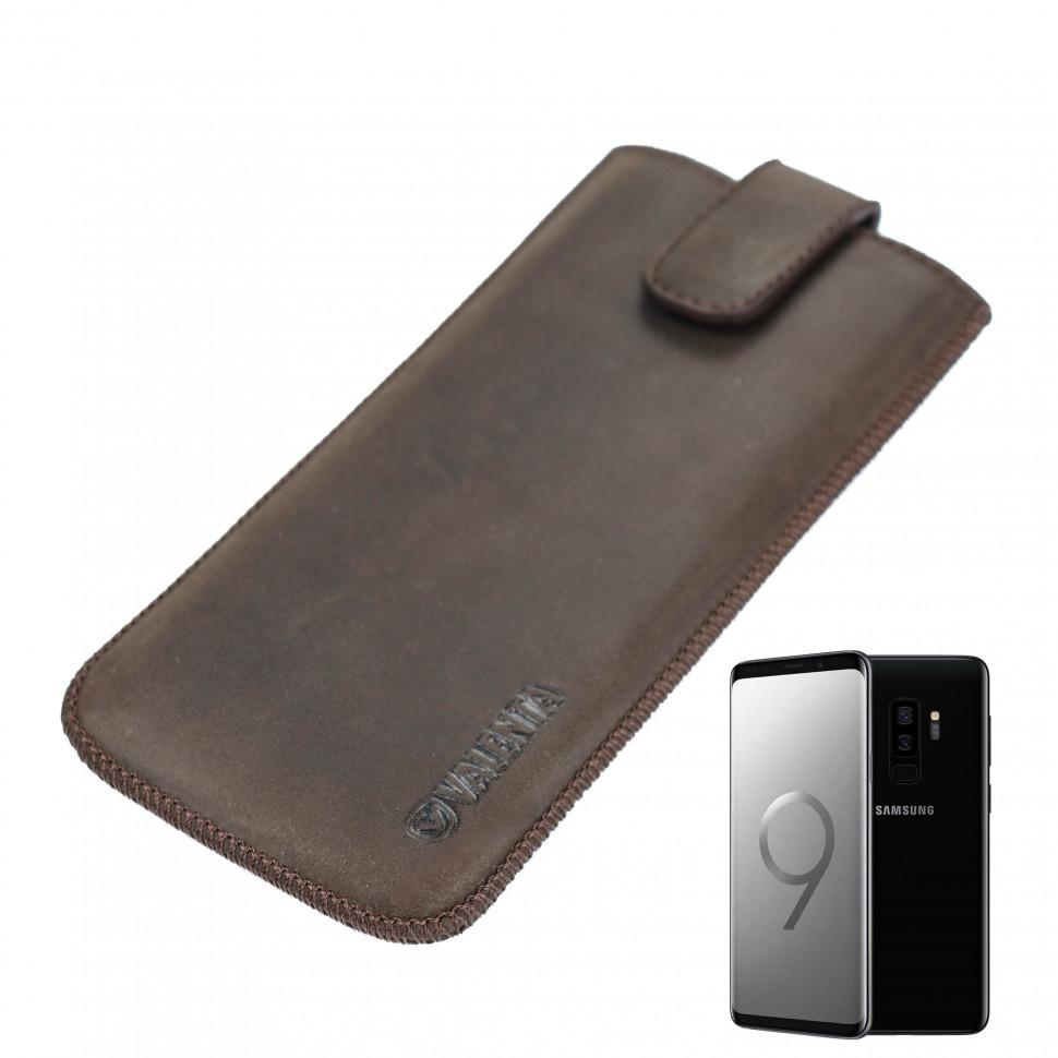 Кожаный чехол Valenta для Samsung Galaxy S8Plus/S9Plus Коричневый (C100982S8pt)