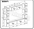 """Гостиная """"Box Глянец Белый / Глянец Черный"""" BOX-F1, фото 2"""