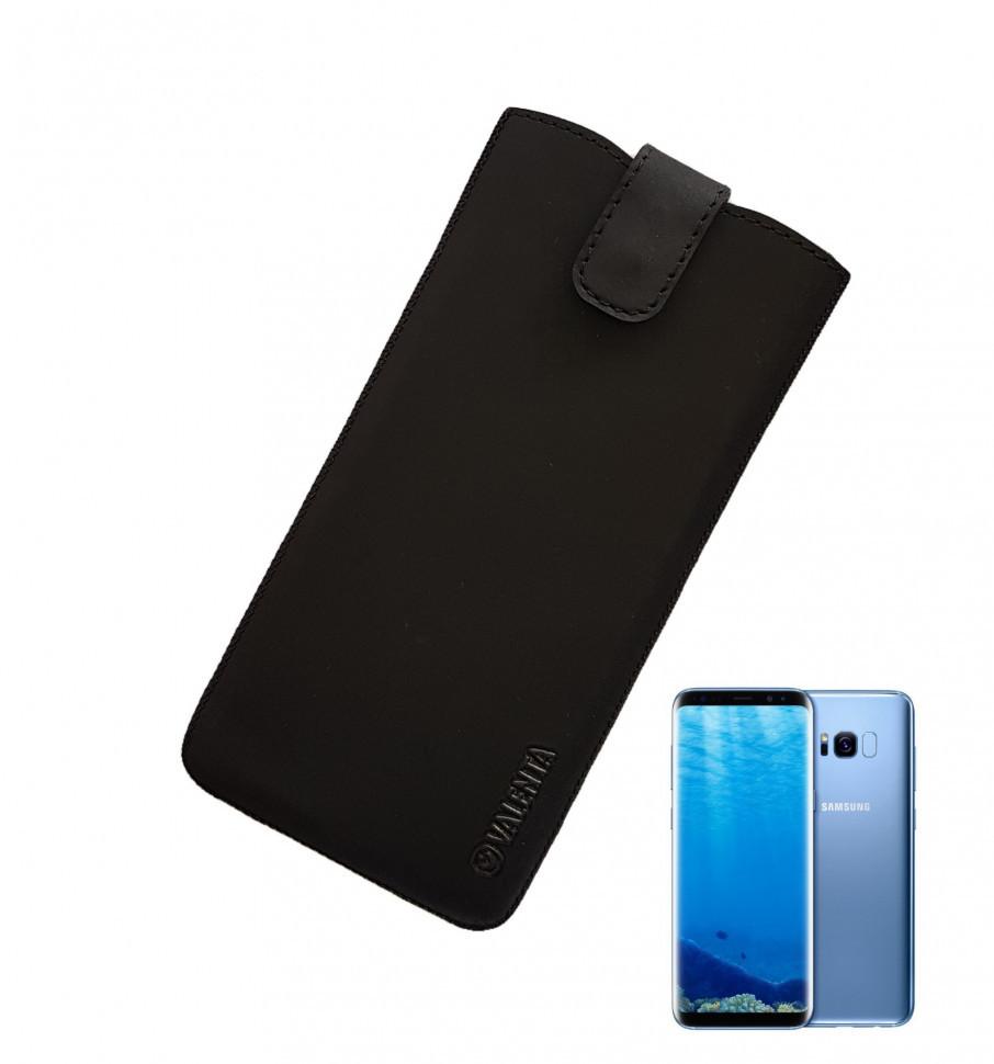 Шкіряний чохол-кишеня Valenta для Samsung S8Plus/S9Plus Чорний (C1009112S8pt)