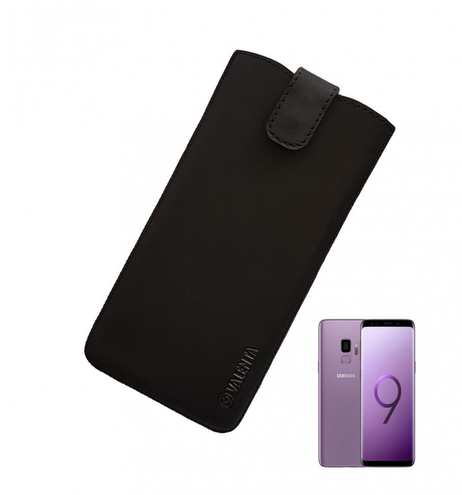 Кожаный чехол-карман Valenta для Samsung Galaxy S8/S9 Черный (C1009112SG8t)