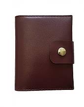 Шкіряний кардхолдер-гаманець для монет Valenta Бордовий (ХР247996t)