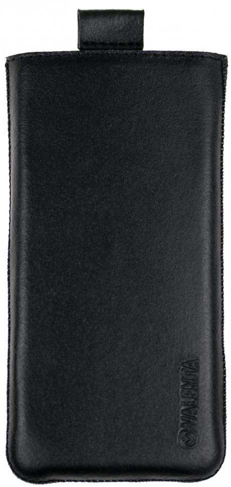 Кожаный чехол-карман Valenta С564 для Nokia 222 Dual Sim Черный