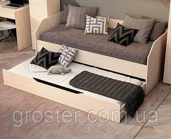 Двухместная кровать Аякс для детей и подростков 80х190