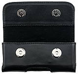 Кожаный чехол на пояс для Nokia 150 2020 Valenta 570L Черный, фото 3