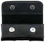 Кожаный чехол на пояс Valenta 570Б для Nokia 515 Черный, фото 3