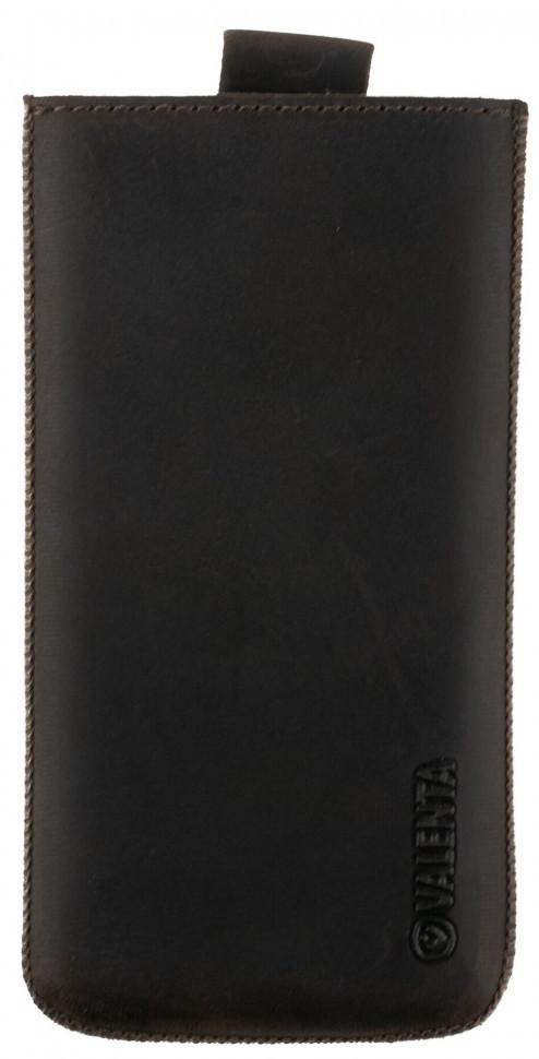 Кожаный чехол-карман Valenta С564 для IPhone 6Plus/7Plus/8Plus Коричневый