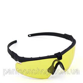 Окуляри захисні V6 black-yellow [CROSS] (для Airsoft, Страйкбол)