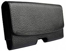 Кожаный чехол на ремень Valenta 1299XL флотар для телефонов (163x82x15 мм) Черный