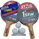 Набор ракеток и 3 шарика Stag Anywhere Everywhere, фото 2