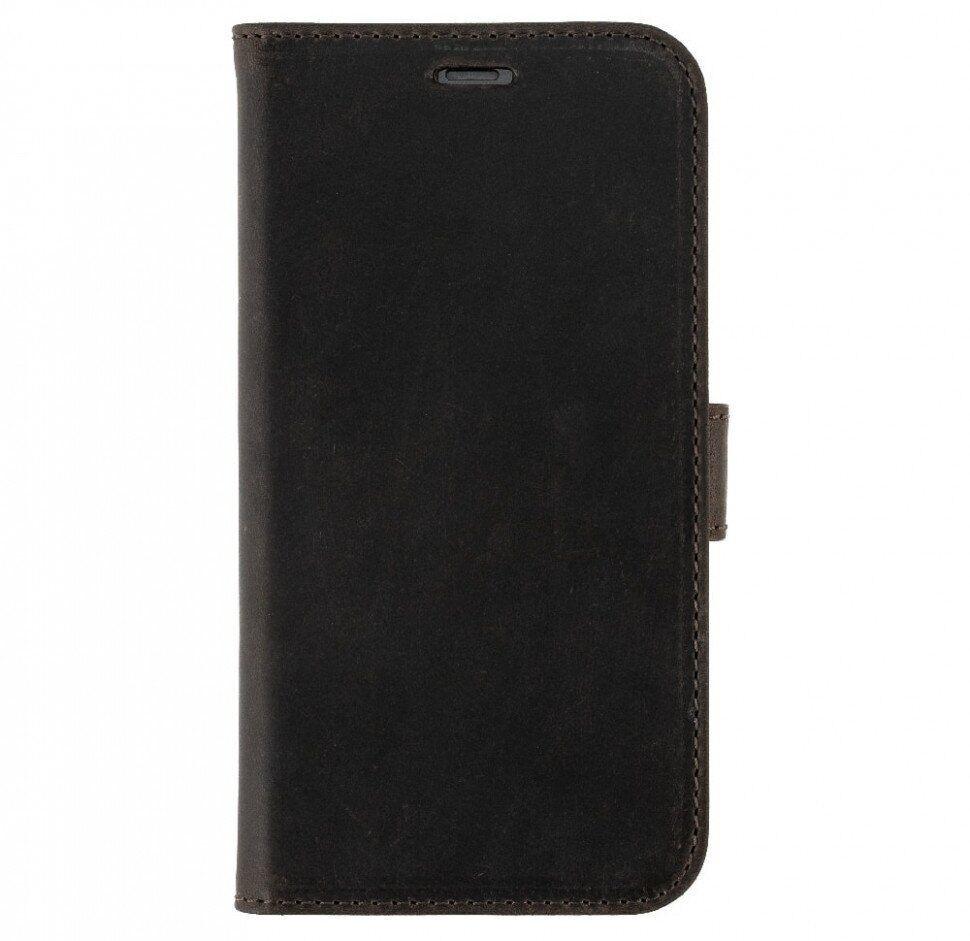 Чохол-книжка Valenta для телефону iPhone XR Темно-коричневий