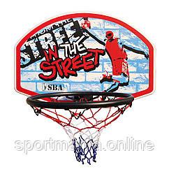 Баскетбольний щит SBA S881RB дитячий 66x46 см
