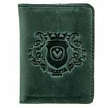 Кожаный кардхолдер Valenta ОК42 Зеленый, фото 2