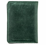 Кожаный кардхолдер Valenta ОК42 Зеленый, фото 3