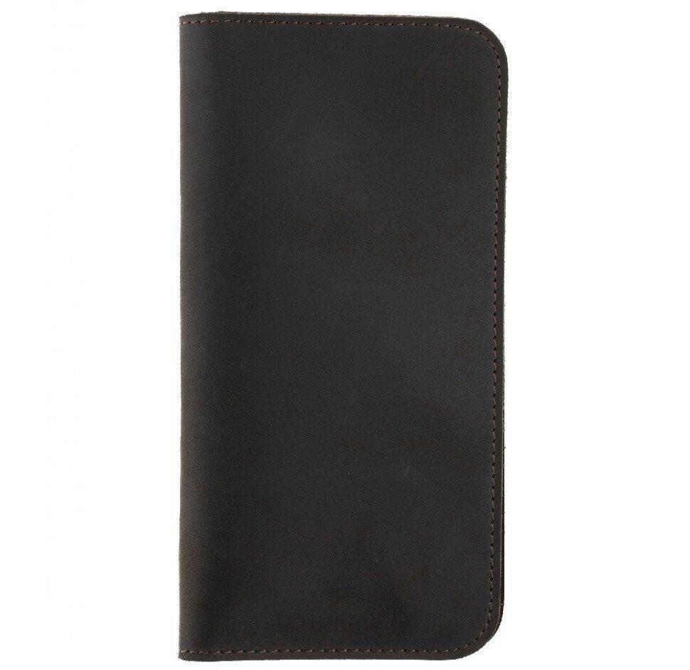 Кажаный чехол-кошелек Valenta (C128322UN) для телефонов до 5.5 дюймов Коричневый
